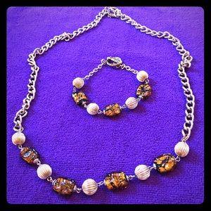 Necklace and bracelet set   NWOT